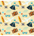 summer seamless flat pattern vector image