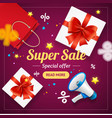 super sale banner card or poster vector image vector image