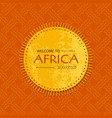 tribal african card with sun frame template vector image