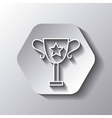 Trophy icon Winner design over hexagon vector image vector image