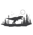 tyrannosaurus in forest vector image vector image