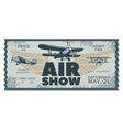 vintage air show pass ticket vector image vector image