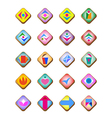 web and computing icons with various signs vector image vector image