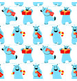 winter seamless pattern with polar beer vector image vector image
