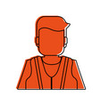 worker avatar with industrial safety icon image vector image vector image
