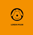 dog logo abstract design template business vector image