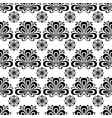 seamless floral black and white background vector image