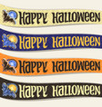 set of ribbons for halloween vector image