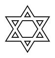 Magen David icon vector image