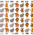 african animals pattern background vector image