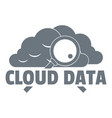 cloud data logo simple style vector image