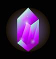 crystal gemstone or precious gem stone icon vector image