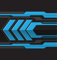 abstract blue gray arrow futuristic vector image vector image