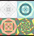 abstract geometric flower set vector image vector image