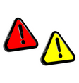 attention icons vector image