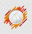 basketball orange background vector image vector image