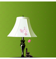 Bedroom lamp vector image