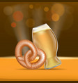 beer and pretzel fest concept banner realistic vector image vector image