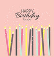 birthday background with candles vector image vector image