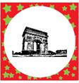 black 8-bit arc de triomphe at paris france vector image vector image
