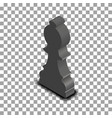 black chess piece bishop isometric vector image vector image