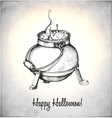 Boiler with potion in a sketch style vector image vector image