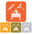 brazier kebab and sausage icon vector image vector image