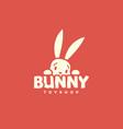 bunny logo vector image vector image