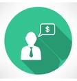 businessman talk about money icon vector image