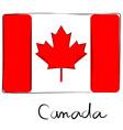 Canada flag doodle vector image vector image
