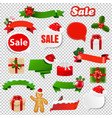 christmas set transparent background vector image vector image