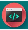 Coding icon flat program app vector image vector image