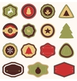 collection of Christmas and New years stickers vector image vector image