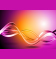 Colorful waves abstract backdrop vector image
