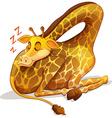 Cute giraffe sleeping alone vector image vector image