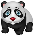 Cute panda cartoon vector image vector image