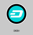 dash accepted sign emblem 3d isometric physical vector image