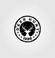 deer hunt vintage logo design vector image vector image