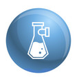 double flask icon simple style vector image vector image