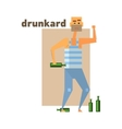 Drunkard Abstract Figure vector image vector image