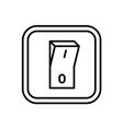 electric switch icon indoor wall mount on off vector image vector image