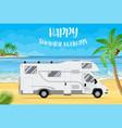 family traveler truck vector image vector image