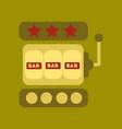 flat icon stylish background poker slot machine vector image vector image