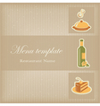 Food menu template vector image vector image