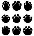 footprints elephants vector image vector image