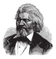frederick douglass vintage vector image vector image