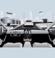 futuristic self driving car vector image vector image