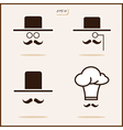 gentleman with a mustache and hat Cap vector image