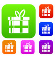 gift in a box set collection vector image vector image