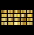 gold metallic metal foil texture gradient template vector image